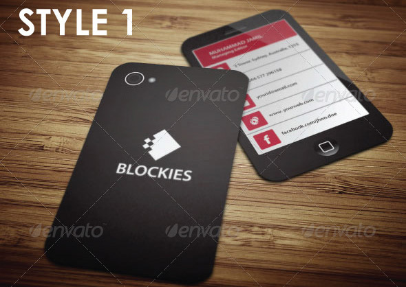 smart phone business card template - Mobile Business Card