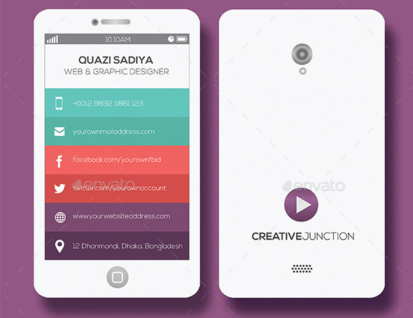 Cool Mobile Phone Business Card Templates Design Freebies - Mobile business card template