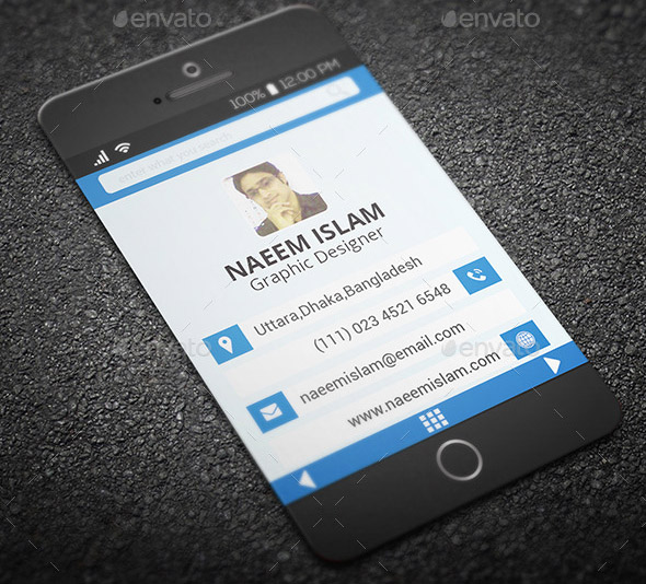 Smart Phone Style Business Card 03