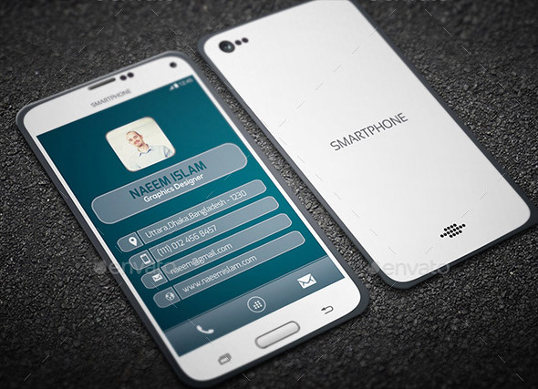 17 cool mobile phone business card templates design freebies smart phone style business card wajeb Images