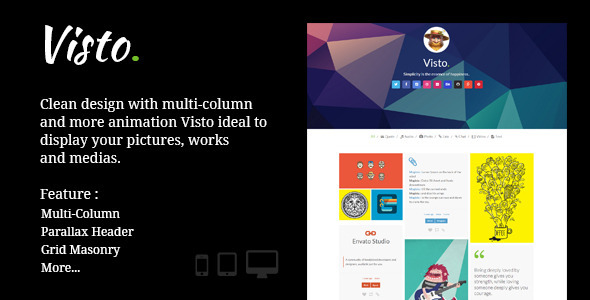 Visto Multi-column Responsive Tumblr Theme