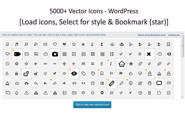 10000 Vector Icons - WordPress
