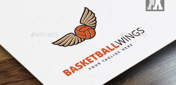 Basketball Wings Logo Template