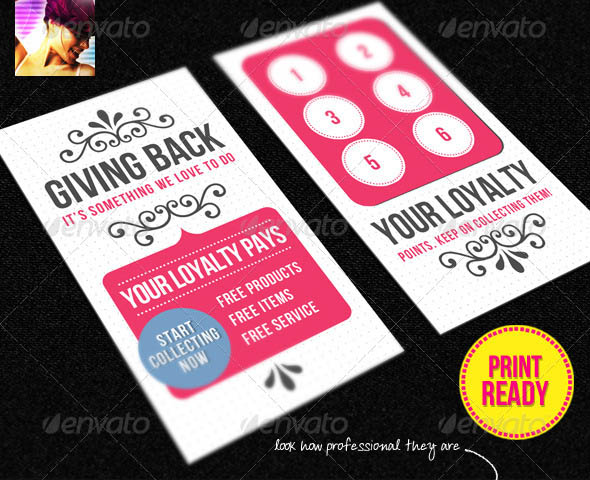 Business Loyalty Card Template Vol 2