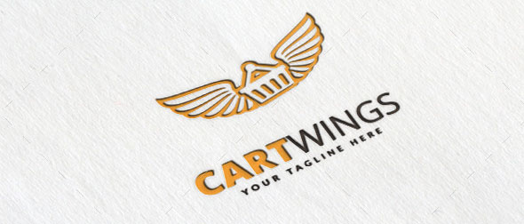 Cart Wings Logo Template