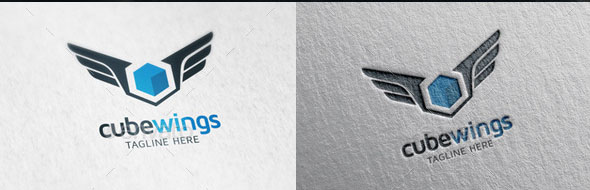 Cube Wings Logo