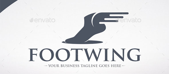 Foot Wings Logo Template
