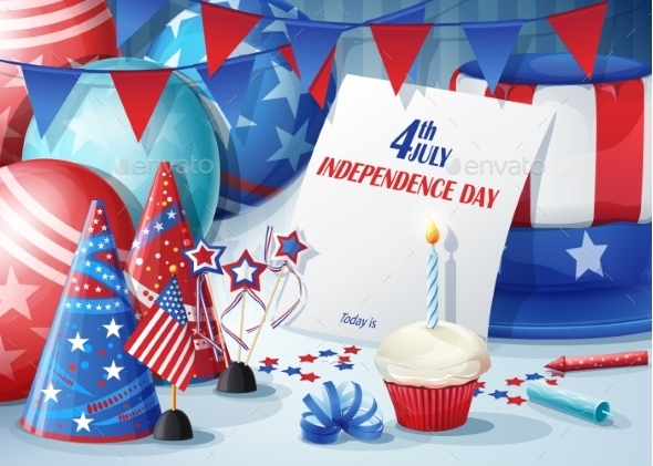 Greeting Card Independence Day