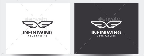 Infinity Wing Logo Template