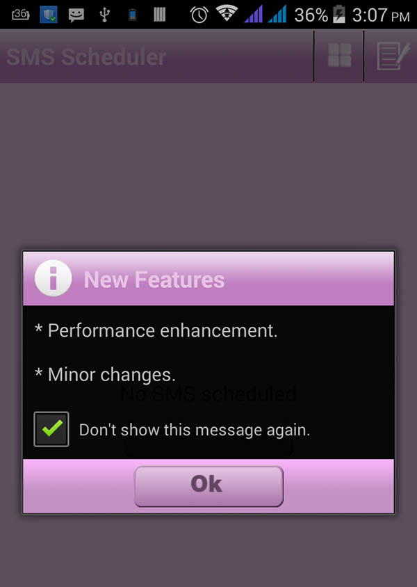 Scheduled SMS with Emotions Android App