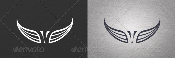 Wings-Logo-01 T Shirt Design Template Letter on best software for, cut out, long sleeve compression, for photoshop,