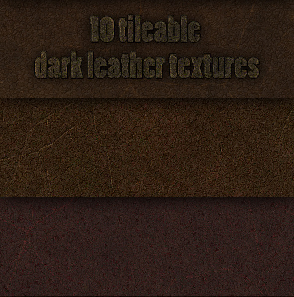 10 tileable dark leather textures