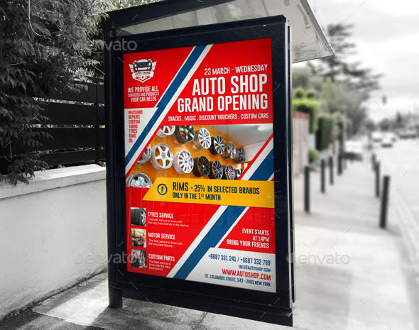 Agency Shop Grand Opening B1 Poster