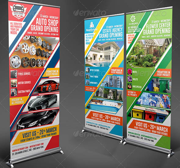 Agency Shop Grand Opening Roll Up Banners