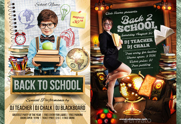 Back to School Flyer Bundle 01