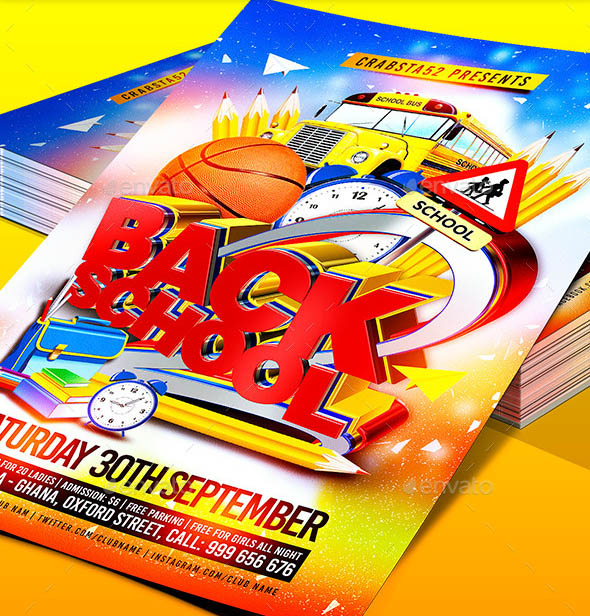 Back to School Flyer Template 01