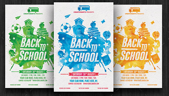 16 Nice Back To School Party Flyer Templates – Design Freebies