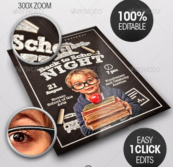 Back to School Night Flyer Template