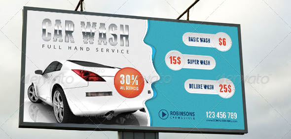 Car Wash Outdoor Banner