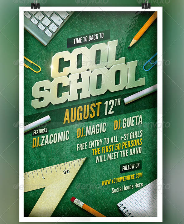 Cool School Back to School Flyer