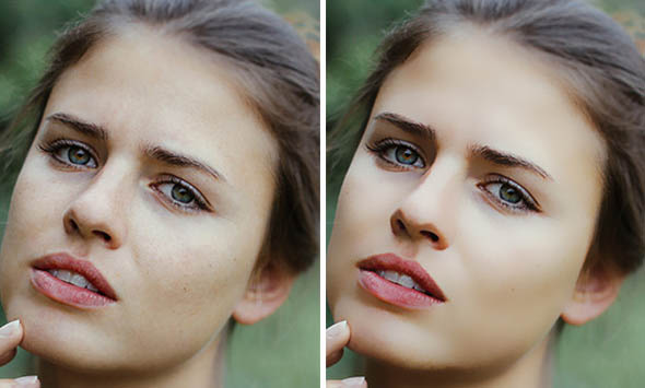 Model Skin Retouch Photoshop Action