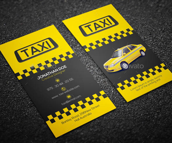 Image gallery taxi business for Taxi business card template