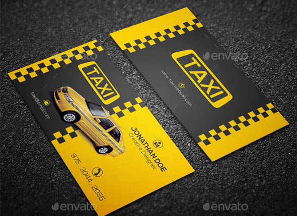 14 Cool Taxi Business Card Templates Design Freebies