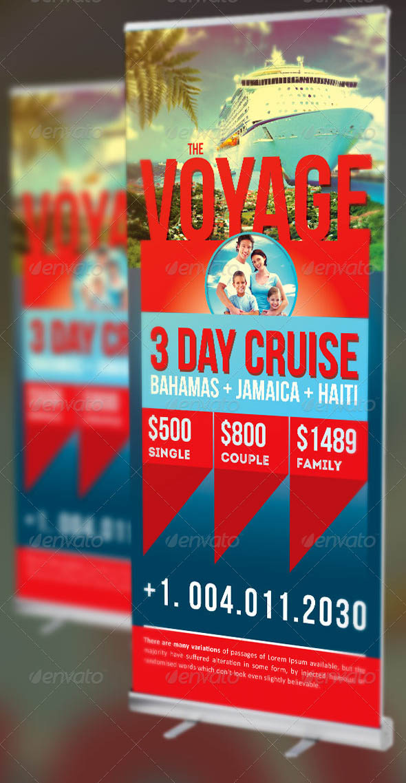 Vacation Cruise Banner Template