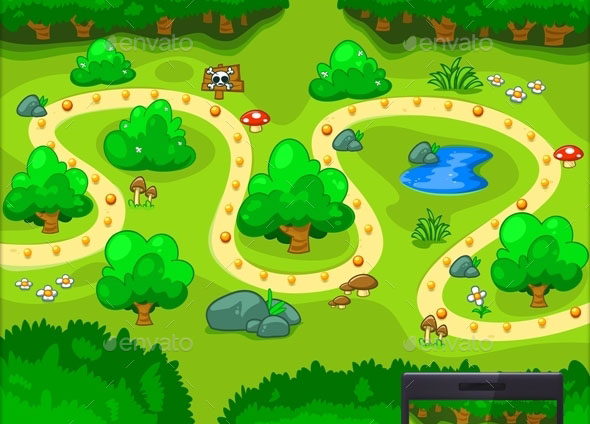 Forest Map Game Scenario Select