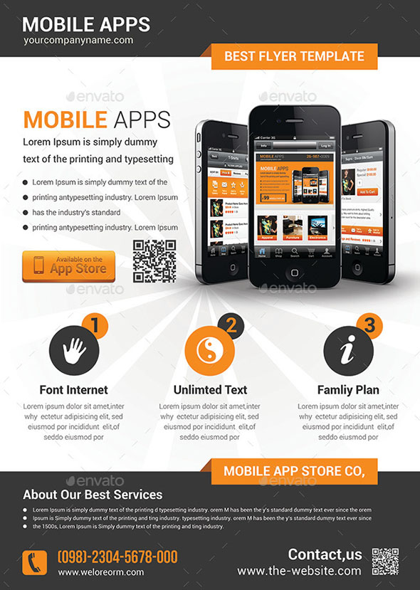 21 cool mobile app flyer templates  u2013 design freebies