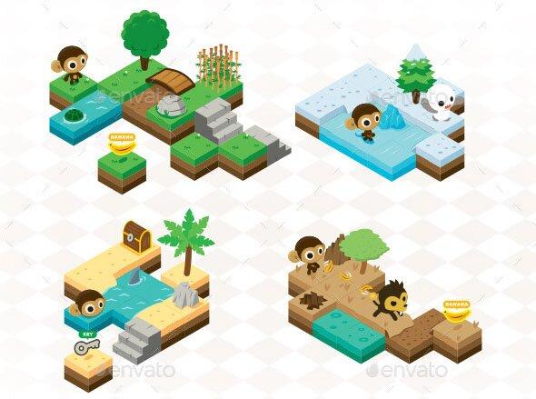 Monkey Isometric Game Kit Map Creator