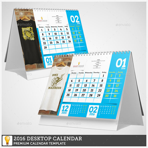 19 Nice Calendar 2016 Indesign Templates – Design Freebies