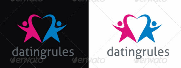 Dating Services Logo Template