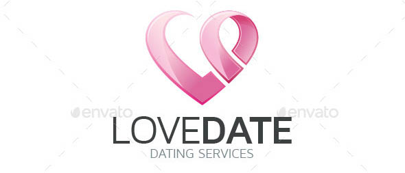 Love Date Logo Template