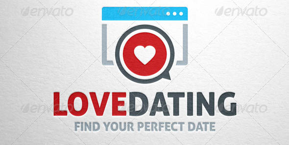 Love Dating logo Template