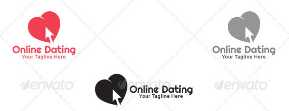 Online Dating Logo Template