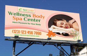 Wellness and Spa Outdoor Banner 38