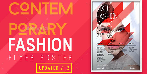 Contemporary Fashion Flyer Poster