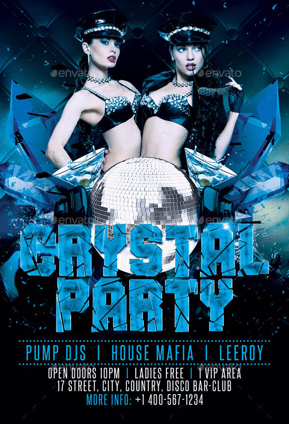 Crystal Party Flyer Template