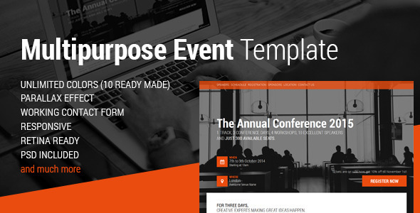 Event HTML5 Landing Page