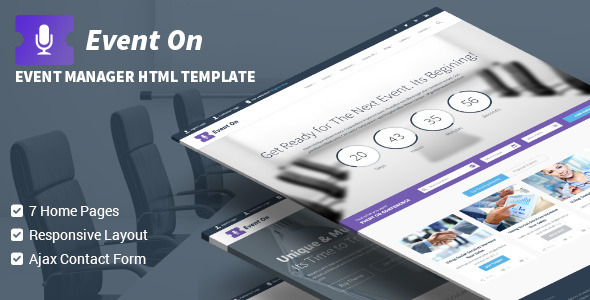 Event On Responsive HTML Template
