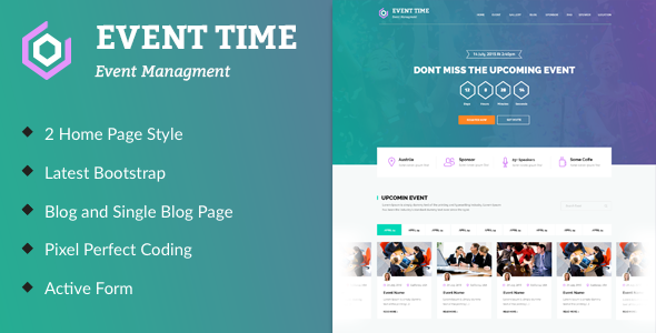 Event Time Conference Event HTML Template