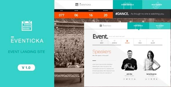Eventicka Event Landing Page