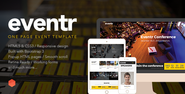 Eventr One Page Event Template