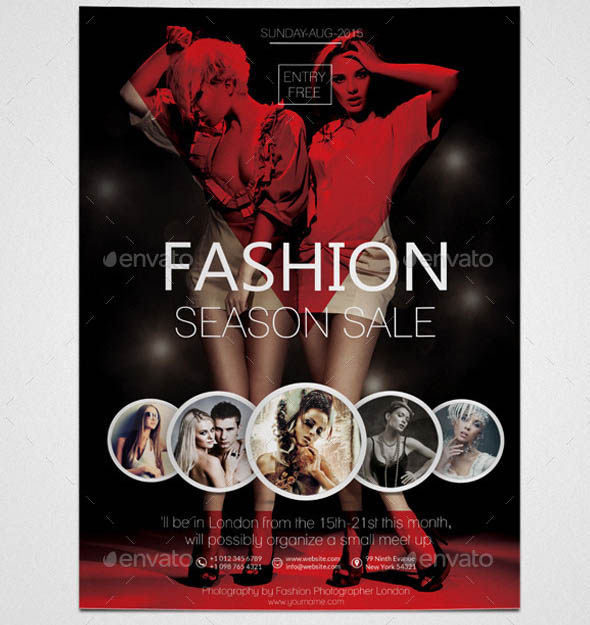 fashion flyer template