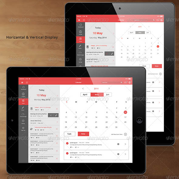 Flat Tablet and Pad App Dashboard-02