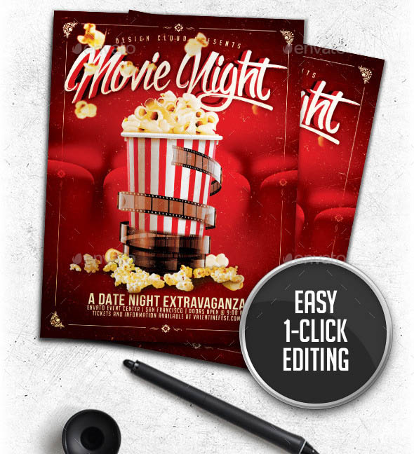 Movie Date Night Flyer Template