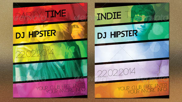 Party Time Hipster Flyer