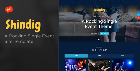 Shindig A Rocking Single Event Site Template