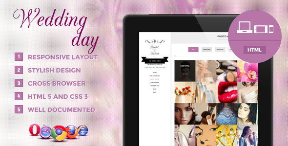 Wedding Day Responsive HTML Theme